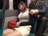 Guy Could Not Resist Squeezing Huge Tits Of Sleeping Japanese Teen In A Public Bus