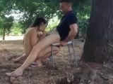 Horny Couple Fucks Outdoor