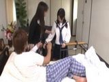 Pissed Off Mom Forced Japanese Schoolgirl To Fuck Her Son When She Caught Her In His Room At The Hospital
