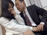 Sacred Housemaid Knew That Something Bad Will About To Happen As Boss Put Her Arm On His Cock