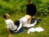 Amateur Teen Gangbang In The Park After Classes