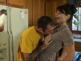 Milf Mom With Glasses Gets Cornered In The Kitchen And Fucked By Sons Classmate