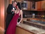 Busty Glamour Milf Gets Fucked In The Kitchen