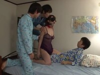 Blackmailed Mother Yui Hatano Used By 2 Boys To Humiliate Their Classmate During Sleepover