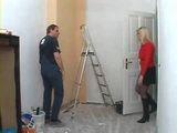 Housemaster Punished Mature Blonde For Interupting Him