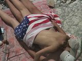 Voyeur Caught Horny American Couple Making Out On The Beach