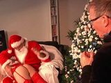 Stepfather Bring His Stepdaughter To Santa To Get Punished For Being A Bad Girl Whole Year