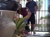 Horny Teens Get In First Yard To Have Quickie