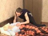 Sleepy Russian Mom Has Rude Awakening By Immodest Boy