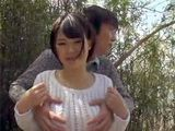 Japanese Couple Having Sex By The Lake