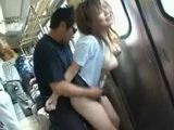 Amateur Japanese Couple Fucking In A Full Crowded Train