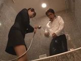Hotel Hostess Had To Atone With Fucking To Demandable Guest For Mistake She Made In The Bathroom