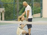 Adorable Babe Gets Extra Lesson From Filthy Tennis Coach