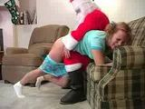 Santa Claus Spanking  Bad Teen  for Cristmas