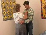 BBW German Oma Fucks Boy