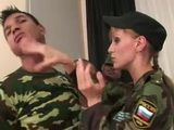 Russian Lady Officer Disciplines New Recruits