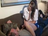 Tickling Game Between Teen And New Father End Up With Fuck After Her Big Boobs Popped Out