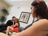 Lucky Hubby Finaly Persuaded His Wife To A Threesome With Hot Neighbor