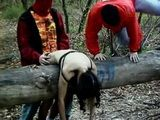 Pigtailed Latina Brutalized In The Woods