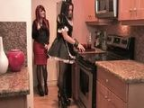 Sexy Maid Gets Fucked With Strapon