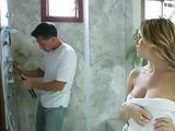 Neighbor Came To Help Sexy Milf Next Door To Fix The Shower Gets Unexpected Reward