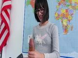 Naughty Brunette Teacher Plays With Student Dick After Classes In The Classroom