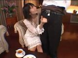 Servant Gets CFNM Tekoki From Mistress