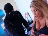 Masked Robber Blackmail Hot Milf August Ames Into Fucking