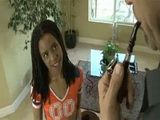 Old Man VS Naughty Cheerleader Ebony Teen