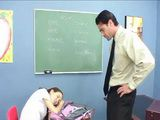 Slim Asian Schoolgirl Punished By Teacher For Fall Asleep In Class