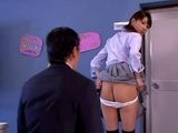 Japanese Schoolgirl Knows How To Avoid Punishment In Principals Office