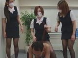 Three Naughty Office Girls Plays Dirty Games With Old Boss