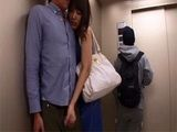 Horny Japanese Couple Couldnt Hold It Till They Reach Their Apartment So They Did It In The Elevator