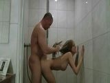 Sexy Amateur Girl Gets Fucked In A Shower By A Muscular Guy