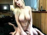 Amateur Blonde With Huge Tits Hard Fucked At Home