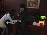 Japanese Secretary Coffee Stained Her Bosses Pants So She Tried To Wipe It Off In A Very Sensitive Spot
