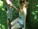 Naive Teen Taken To The Woods And Gets Fucked Outside
