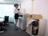 Busty Secretary Gets Attacked By Her Crazy Colleague Who Hid In A Closet Waiting For Her To Be Left Alone