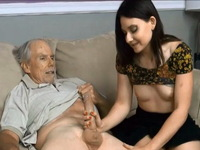 Grandpa Seduce Naive Brunette Into Fucking