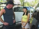 Cute Teen Fucks Old Truck Driver