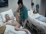 Dirty Doctor Fuck Sexy Blonde Patient During Night Shift