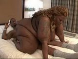 His Biggest Dream Fulfiled  Blonde Black BBW In Action