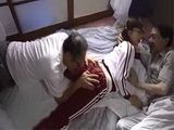 Awful Stepfather Shares His teen Stepdaughter Aramaki Shiori With His Friend