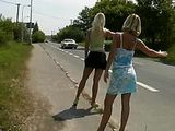 Hitchhiker Hookers Gets Fucked Outdoor