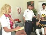 Busty Blonde Milf Doctor Will Nursed Well Injured Rugby Player