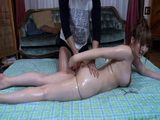 Hot Housewife Didnt Have Something Like This In Her Mind When She Called Masseur To Give Her Home Massage