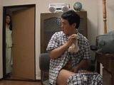 Maki Hojo Gets Awaken Late At Night By Noise Coming Stepsons Bedroom And Caught Him Jerking On Her Panties
