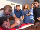 Brutal Merciless Gangbang Dped Punishment For Wife Of Unfortunate Husband In Big Money Debt