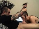 Punk Couple Homemade Hardcore Sucking