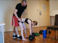 Petite Redhead Teen Has Special Workout With Her Trainer